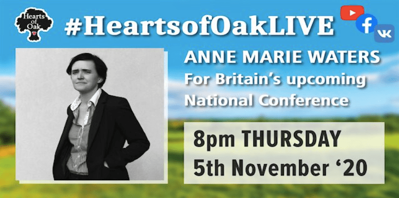 Anne Marie Waters will be discussing the upcoming For Britain Conference