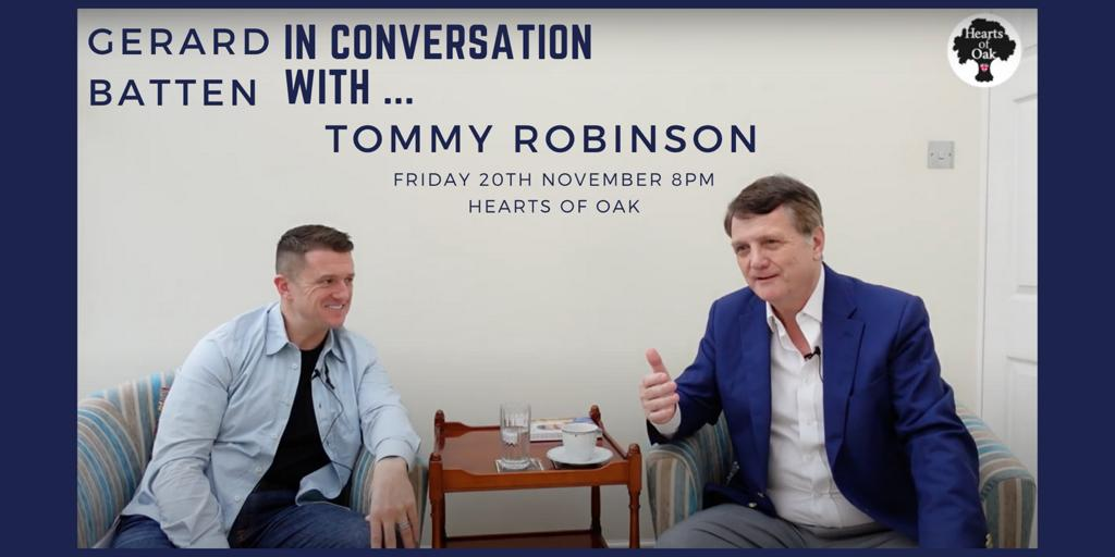 Gerard Batten in conversation with Tommy Robinson