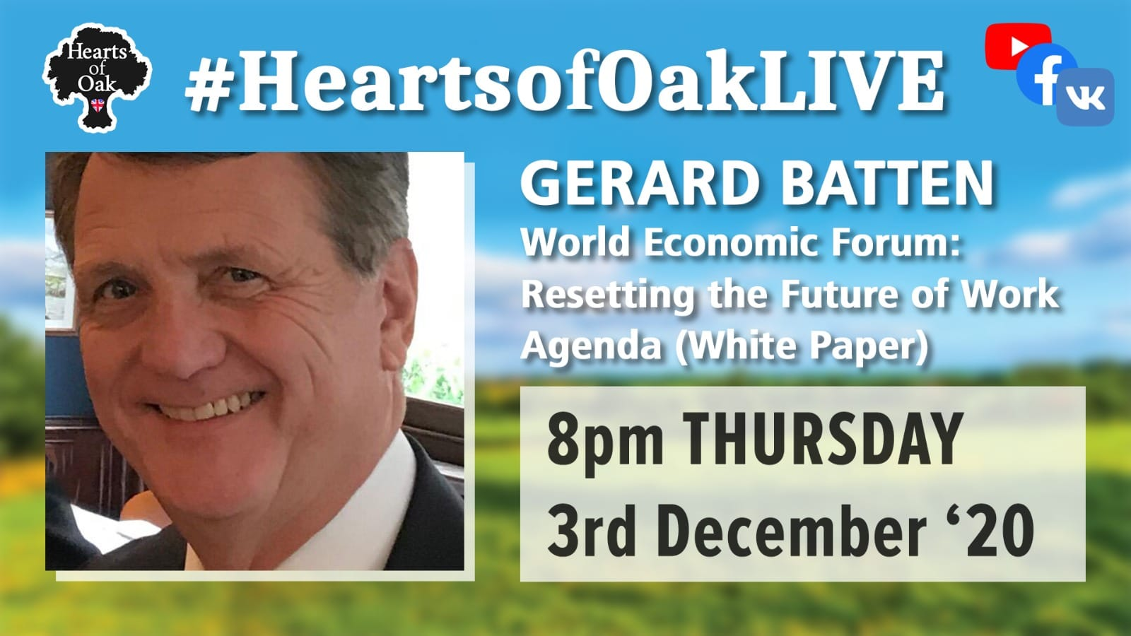 Gerard Batten discusses the latest World Economic Forum paper on the Great Reset