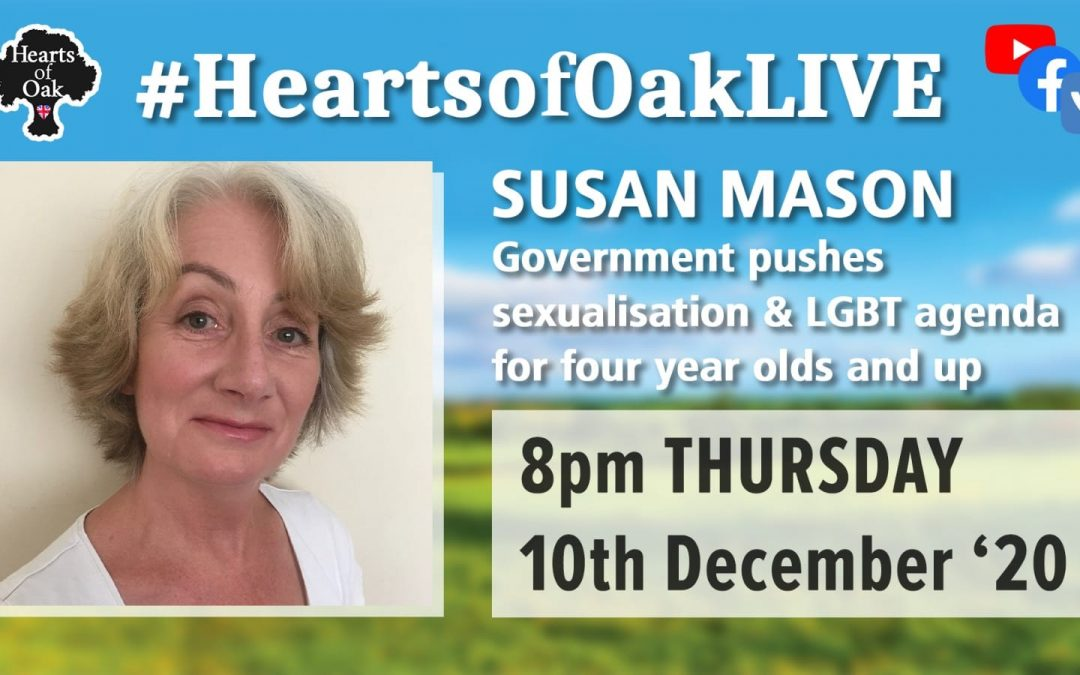 Susan Mason – Government pushes sexualisation and LGBT agenda on four year olds
