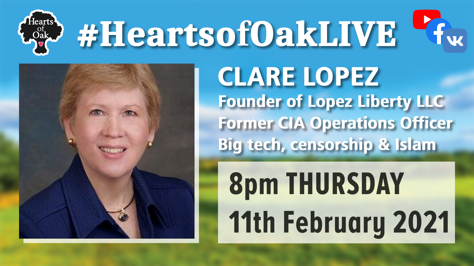 Clare Lopez, former CIA operations Officer, discusses, Big Tech, Censorship and Islam