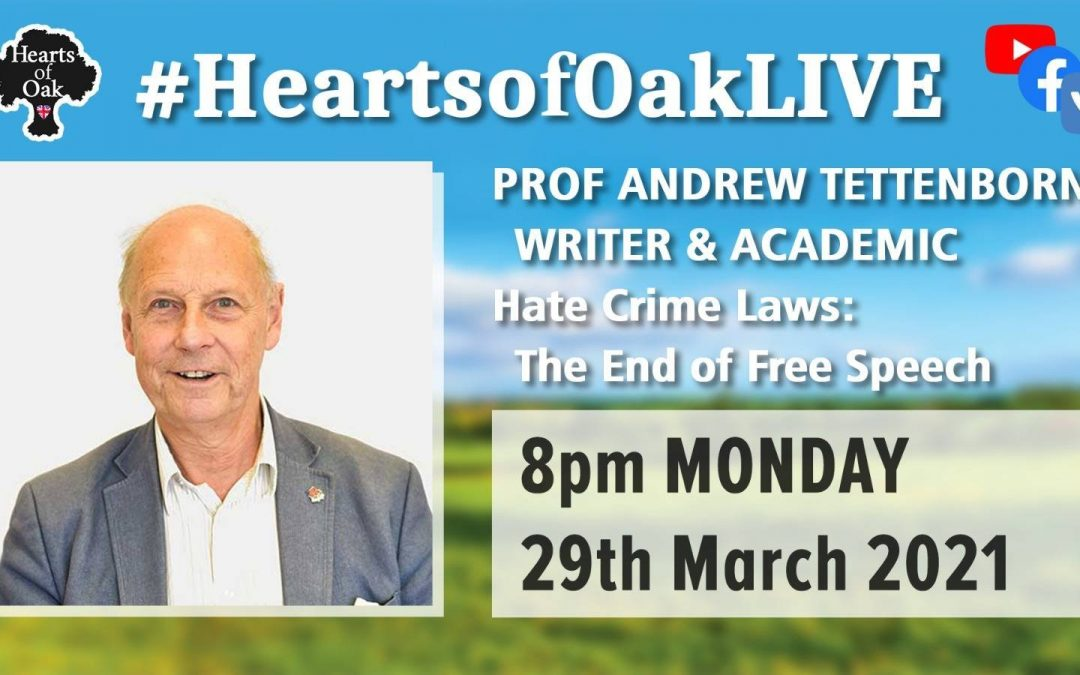 Prof Andrew Tettenborn – Hate Crime Laws: The end of Free Speech?