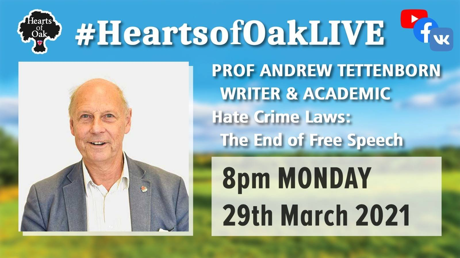 Prof Andrew Tettenborn - Hate Crime Laws: The end of Free Speech?