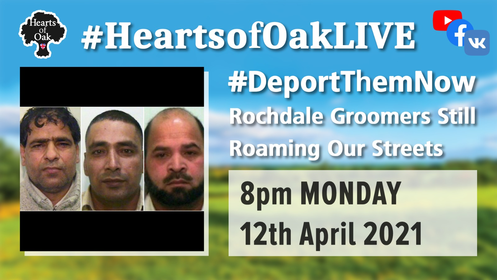 #DeportThemNow Rochdale Groomers still roaming our streets