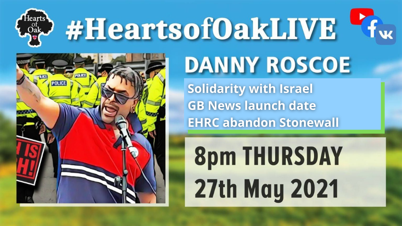 Danny Roscoe: Solidarity with Israel, GB news launch date announced and EHRC cuts ties with Stonewall
