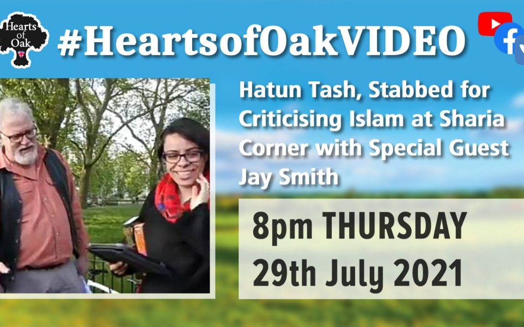 Hatun Tash, Stabbed for Criticising Islam at Sharia Corner with special guest Jay Smith
